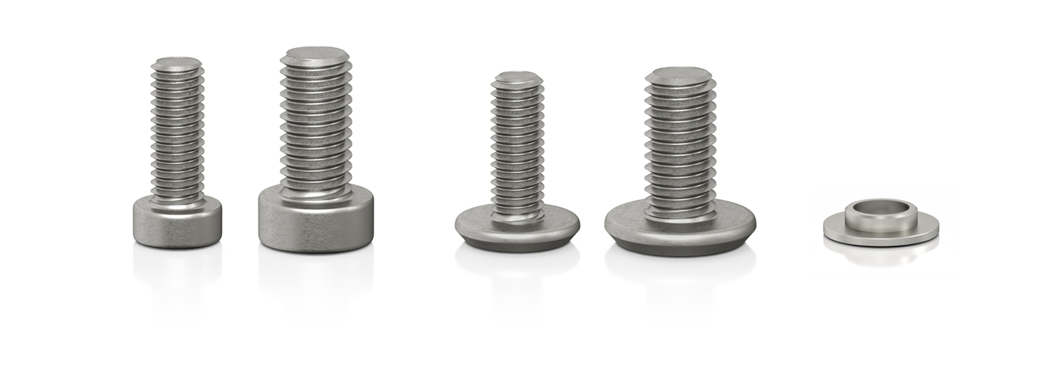 VIABLUE™ stainless steel screw and diameter decreaser
