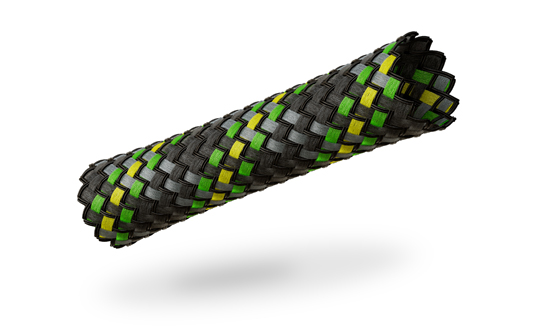 VIABLUE™ braided cable sleeve Neon